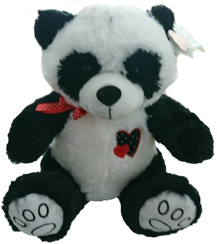 Panda de Pelucia Coração Bordado