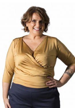 Blusa Plus Size Cachecouer Dourada