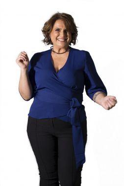 Blusa Plus Size Cachecouer Marinho
