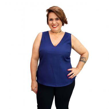 Blusa Regata Collor Plus Size