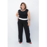 Body Plus Size Malha Preto