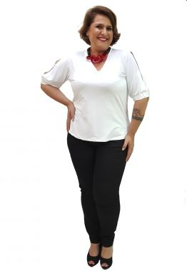 Calça Skinny Plus Size Preta