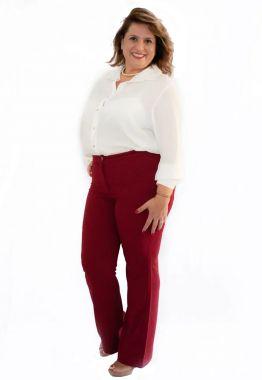 Camisa Plus Size Crepe Georgette Branca e Preta