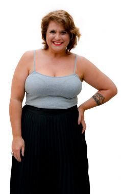 Camiseta Regata Plus Size Mescla