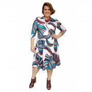 Vestido Cachecouer Estampado Floral Plus Size