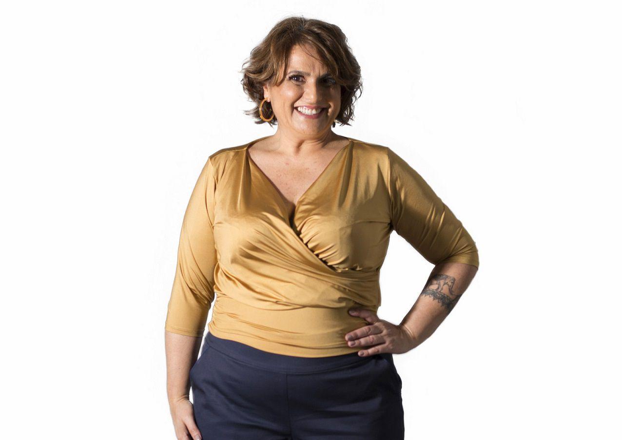 Blusa Plus Size Cachecour Dourada
