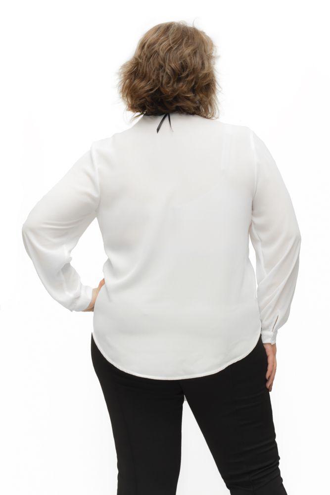 Blusa Plus Size Manga Longa Cachecoer Branca