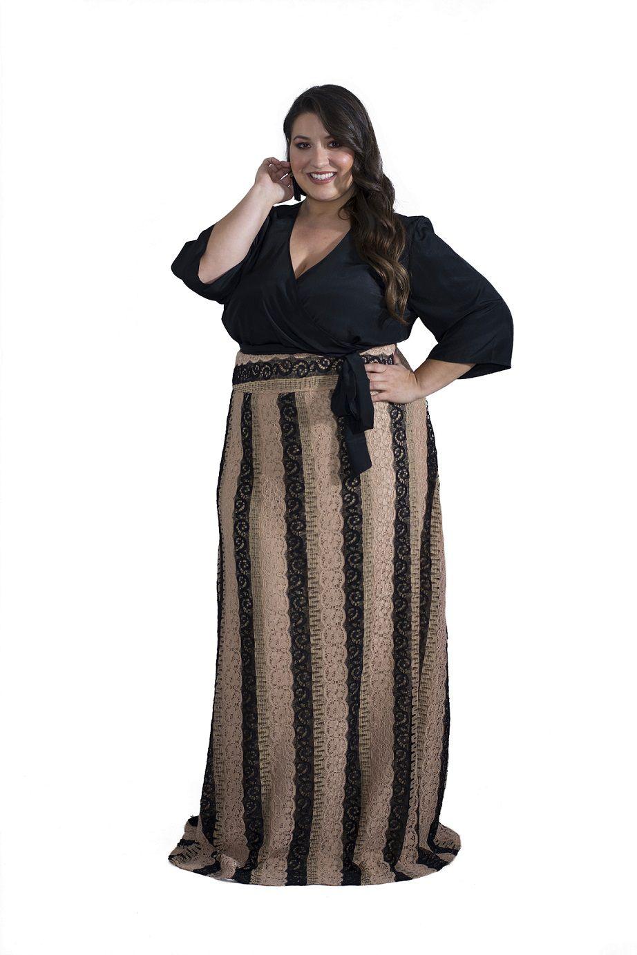Blusa Plus Size Preta Cachecouer