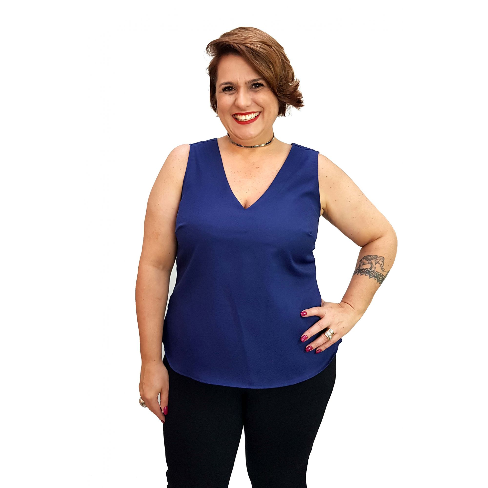 Blusa Regata Collor Plus Size