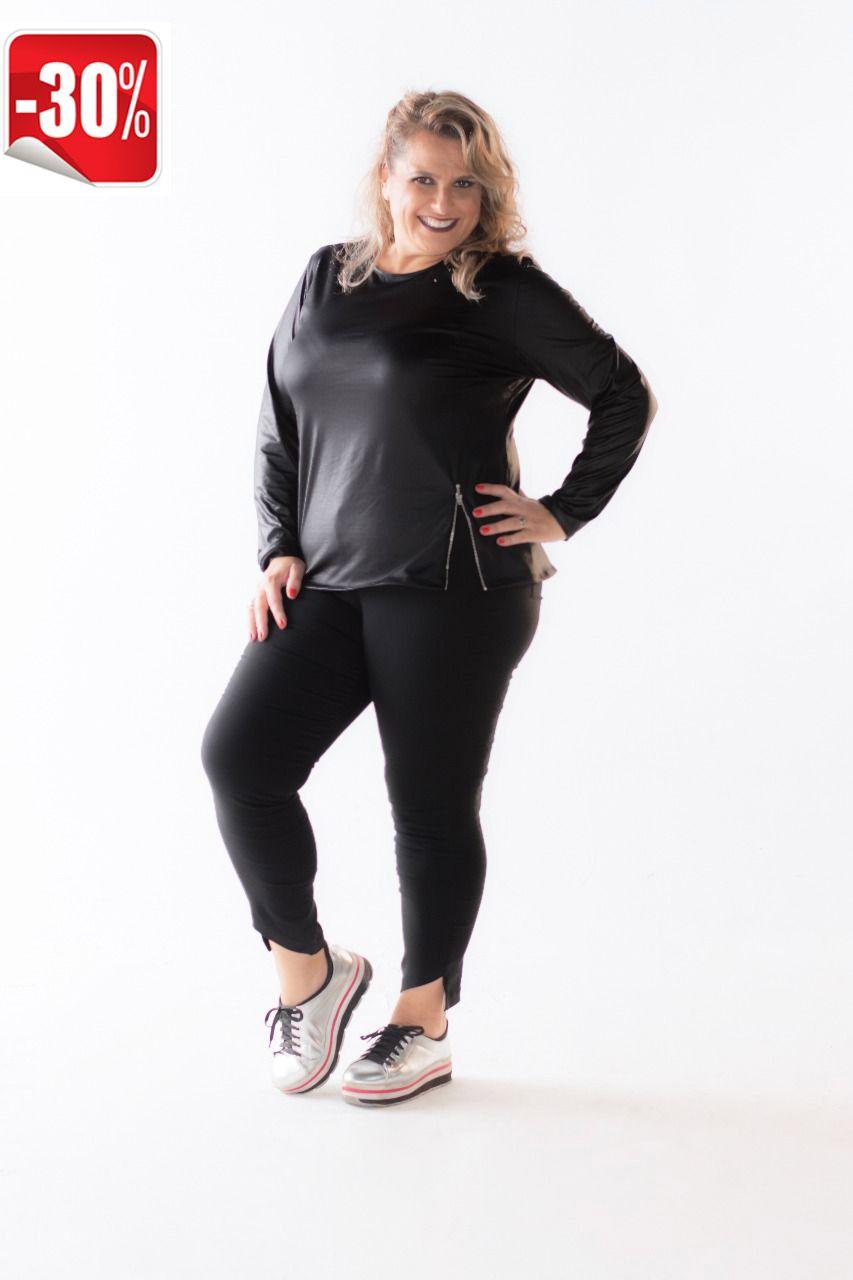 Blusinha Plus Size Cire com Zíper