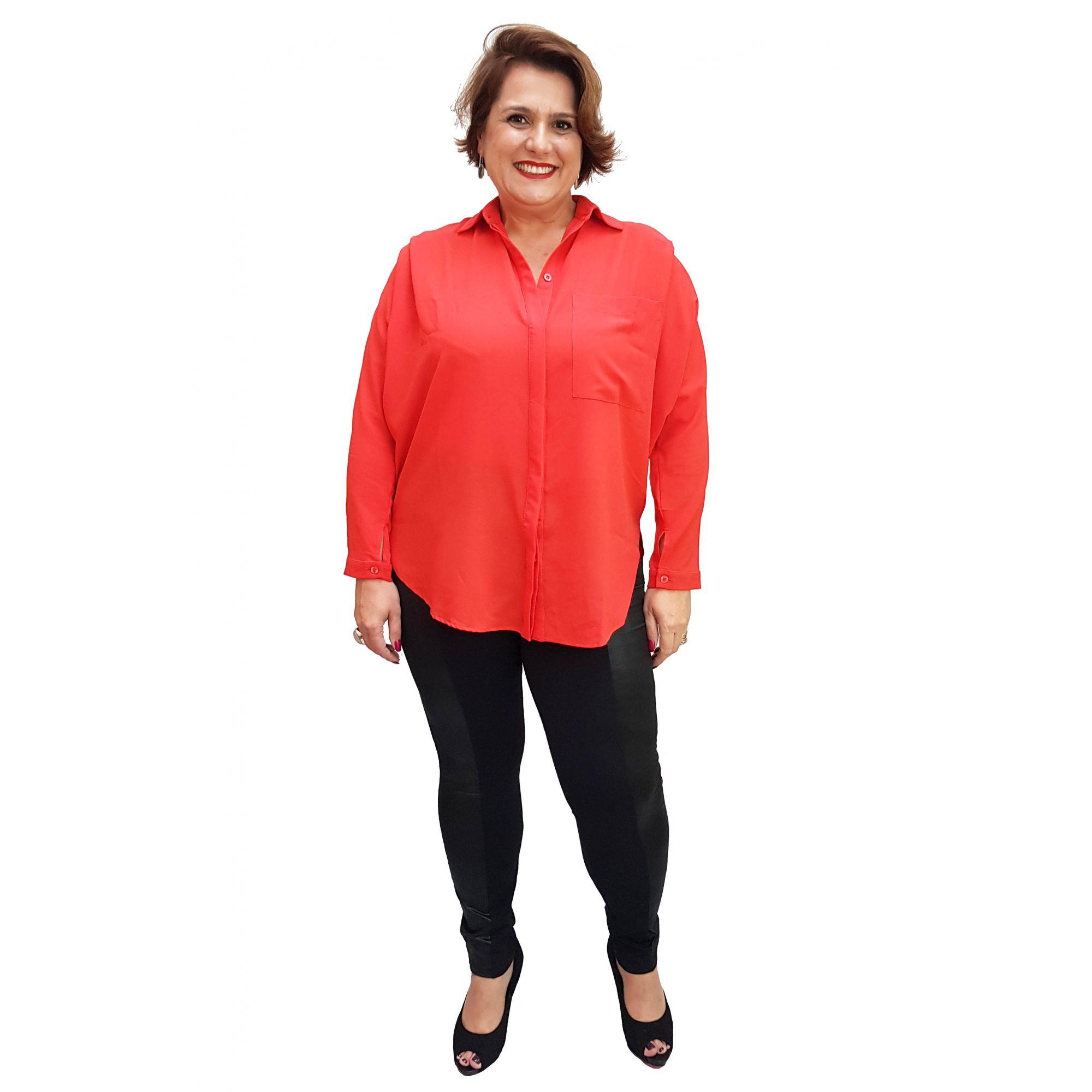Calça Legging Plus Size com Cire na Lateral Única