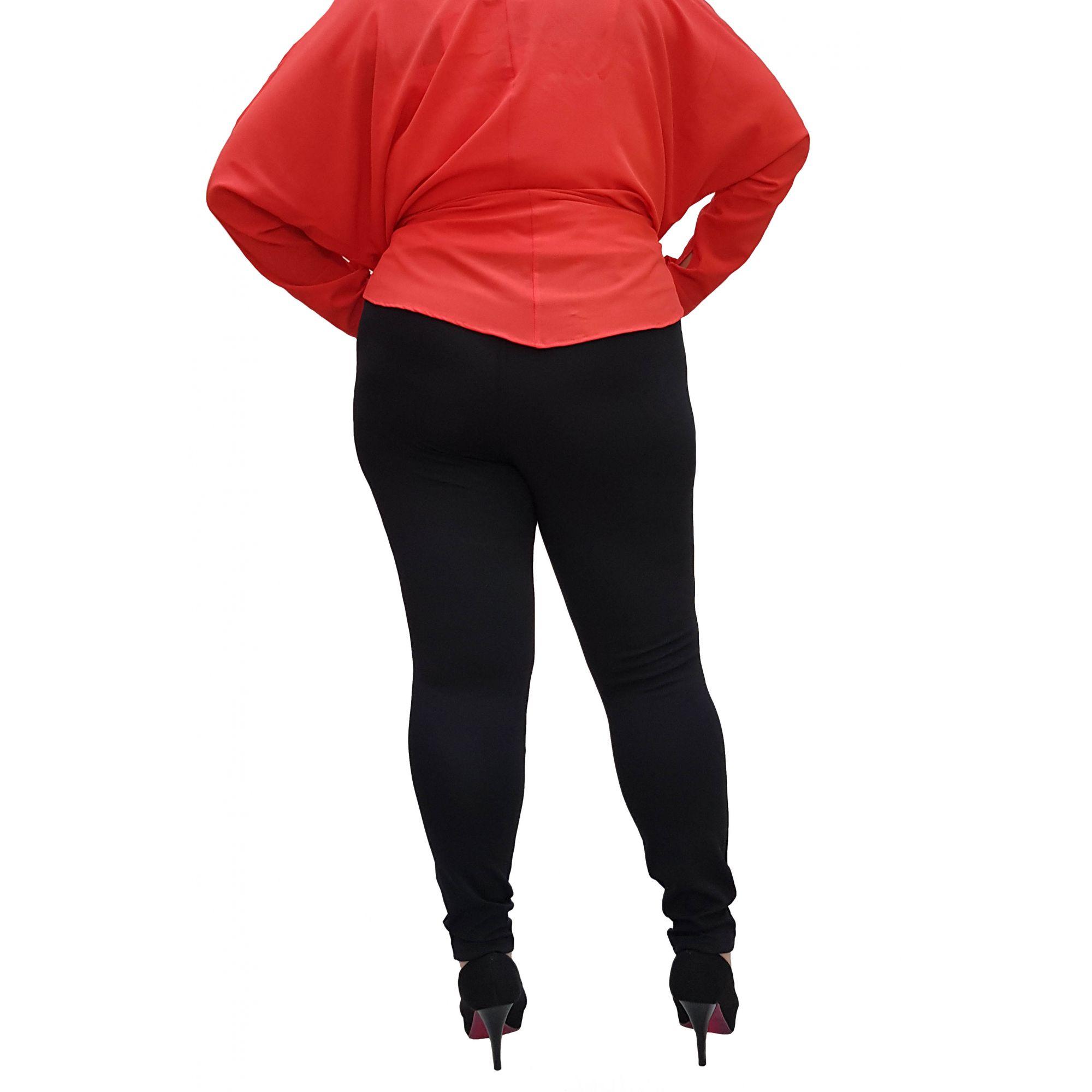 Calça Legging Plus Size Lisa