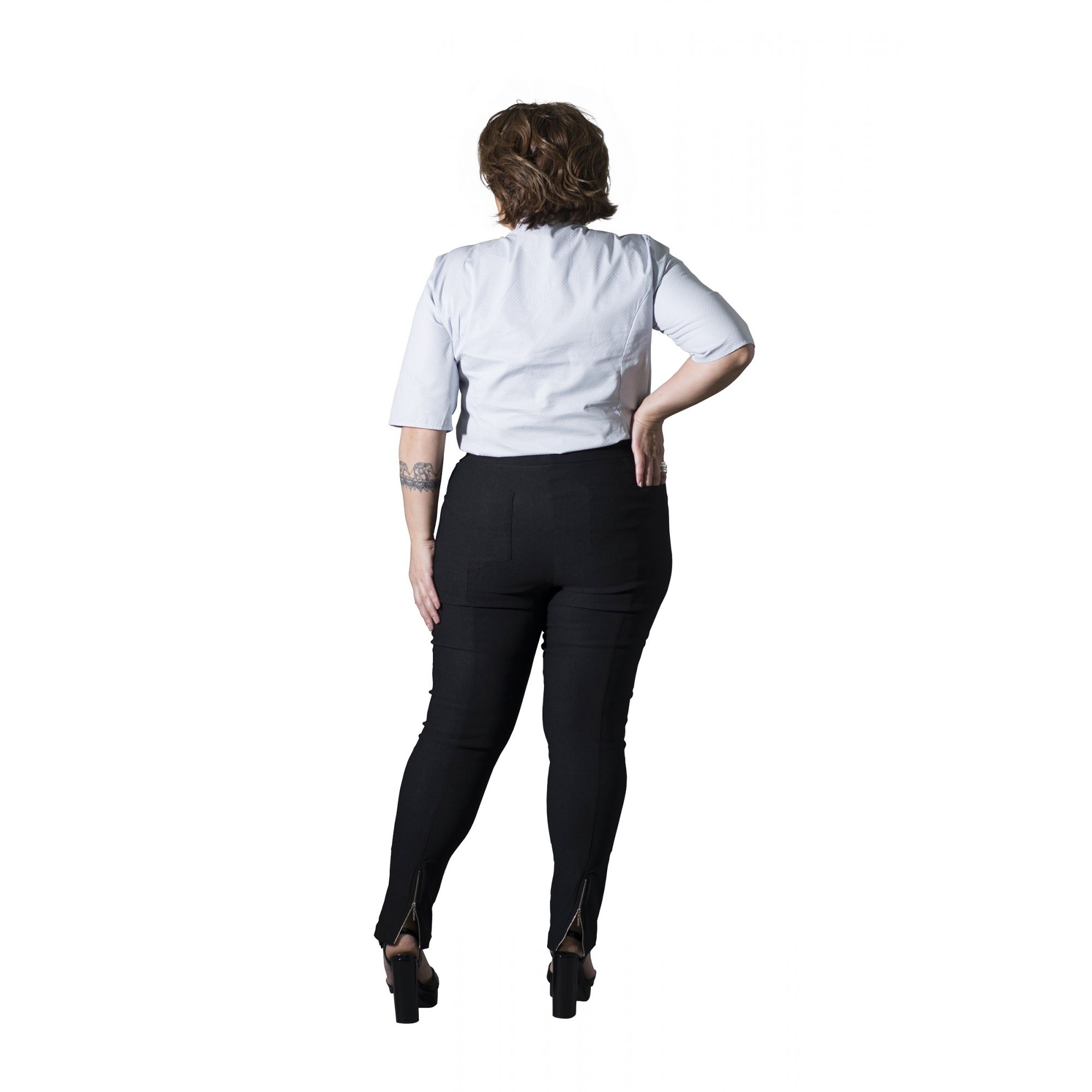 Calça Plus Size Skinny Bengaline