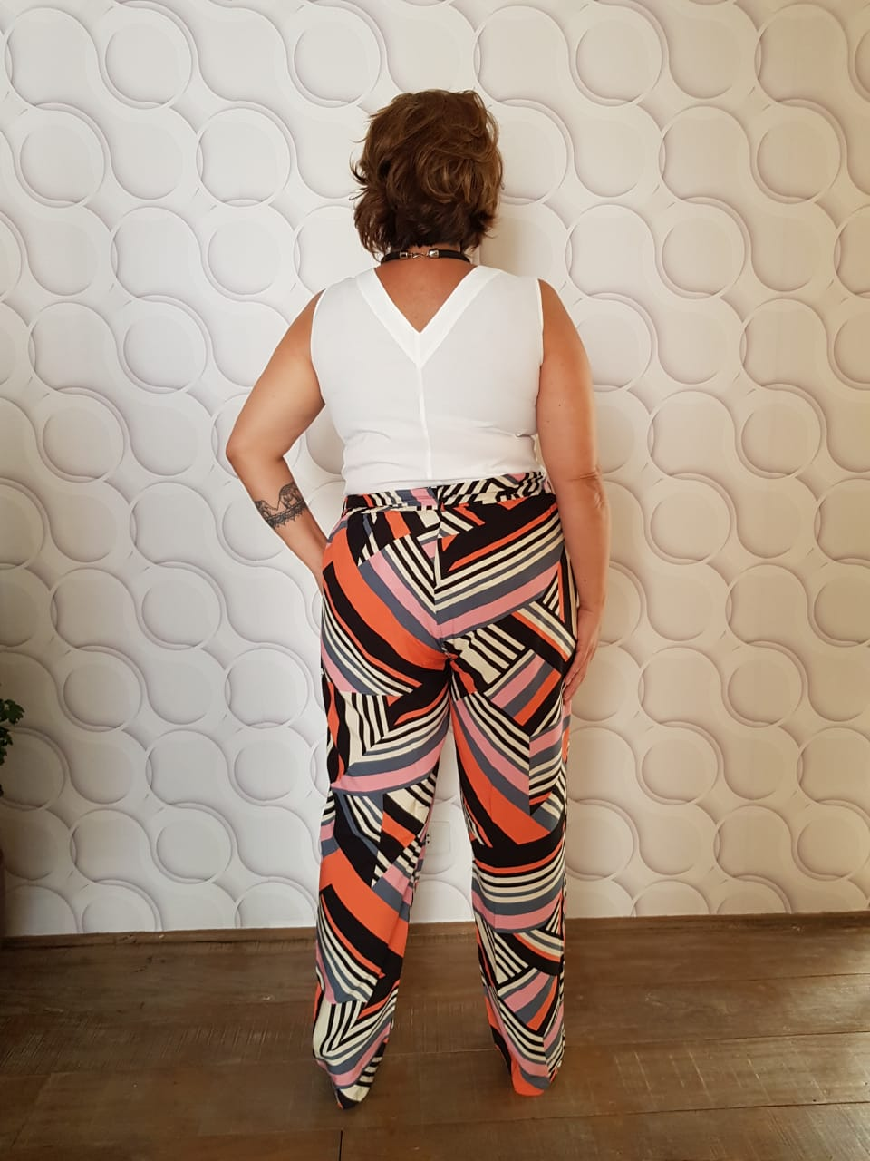 Calça Plus Size Viscose Estampada