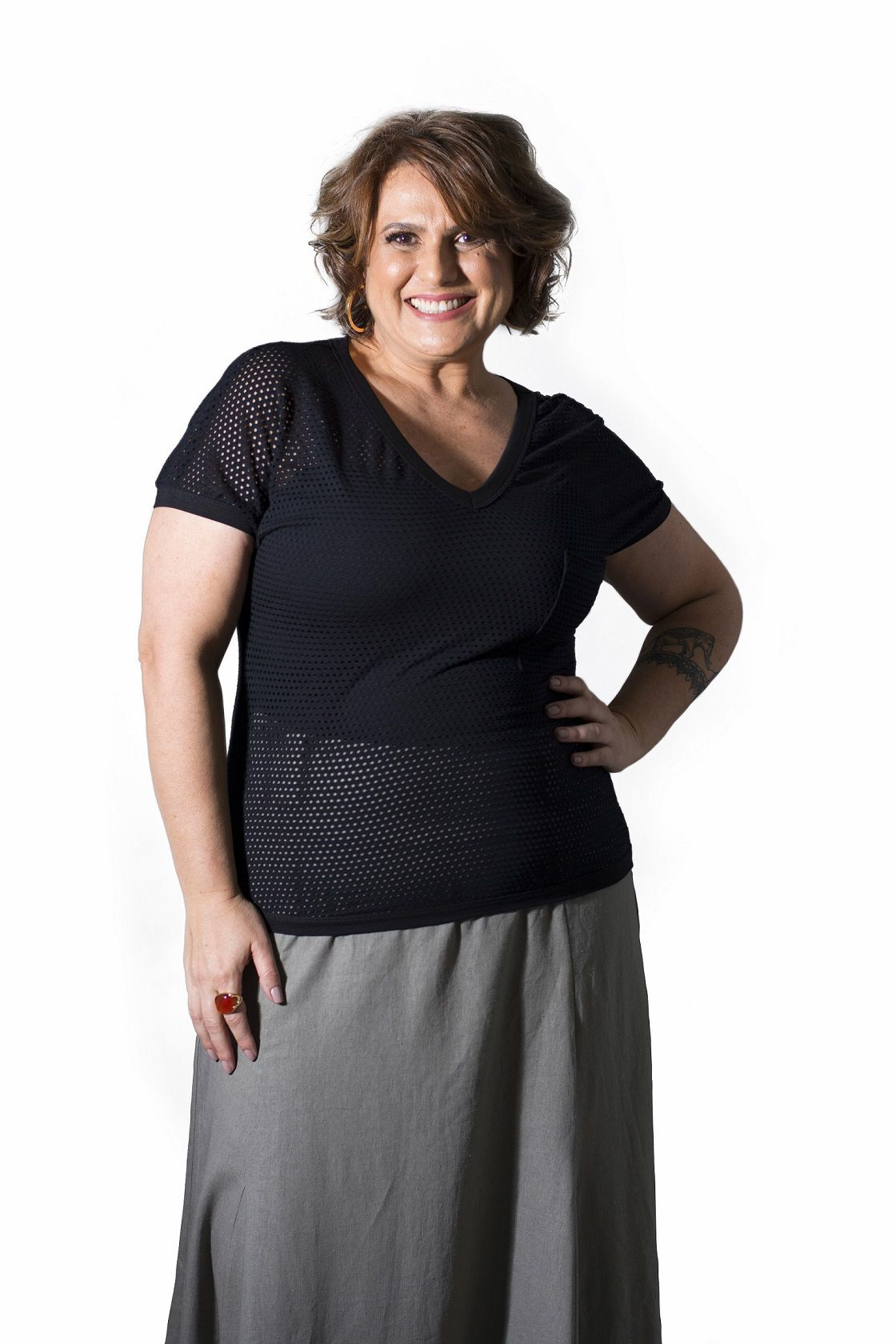Camiseta Plus Size Malha Preta