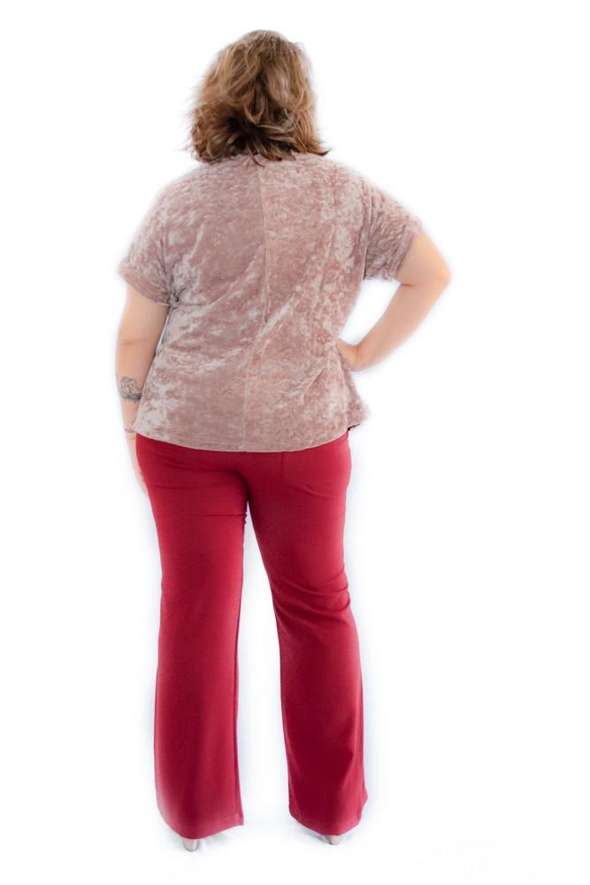 Camiseta Plus Size Veludo Molhado