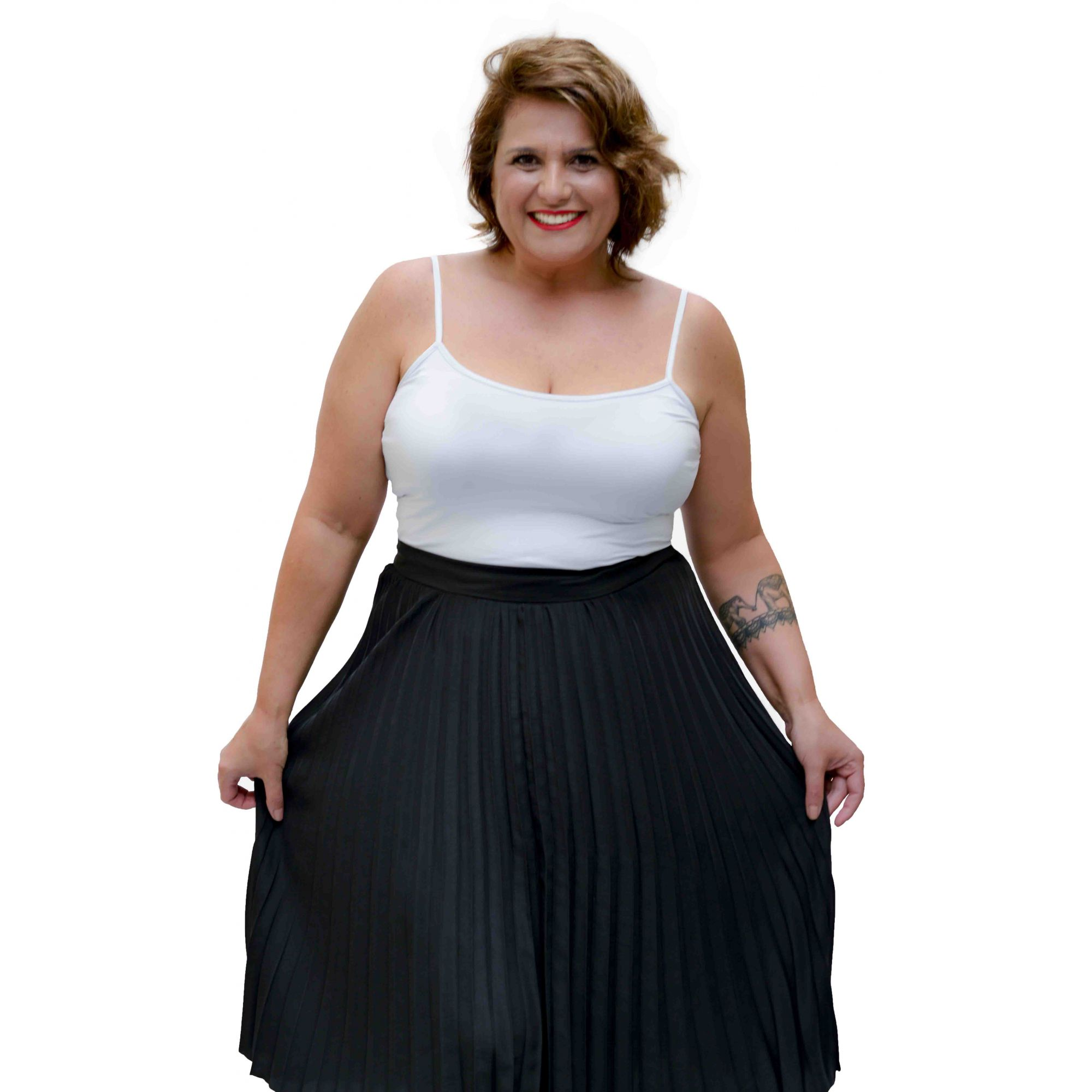 Camiseta Regata Plus Size Branca