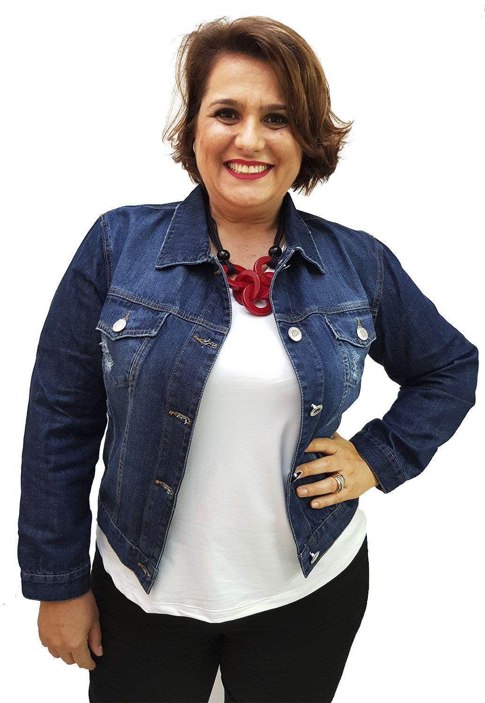 Jaqueta Jeans Curta Plus Size