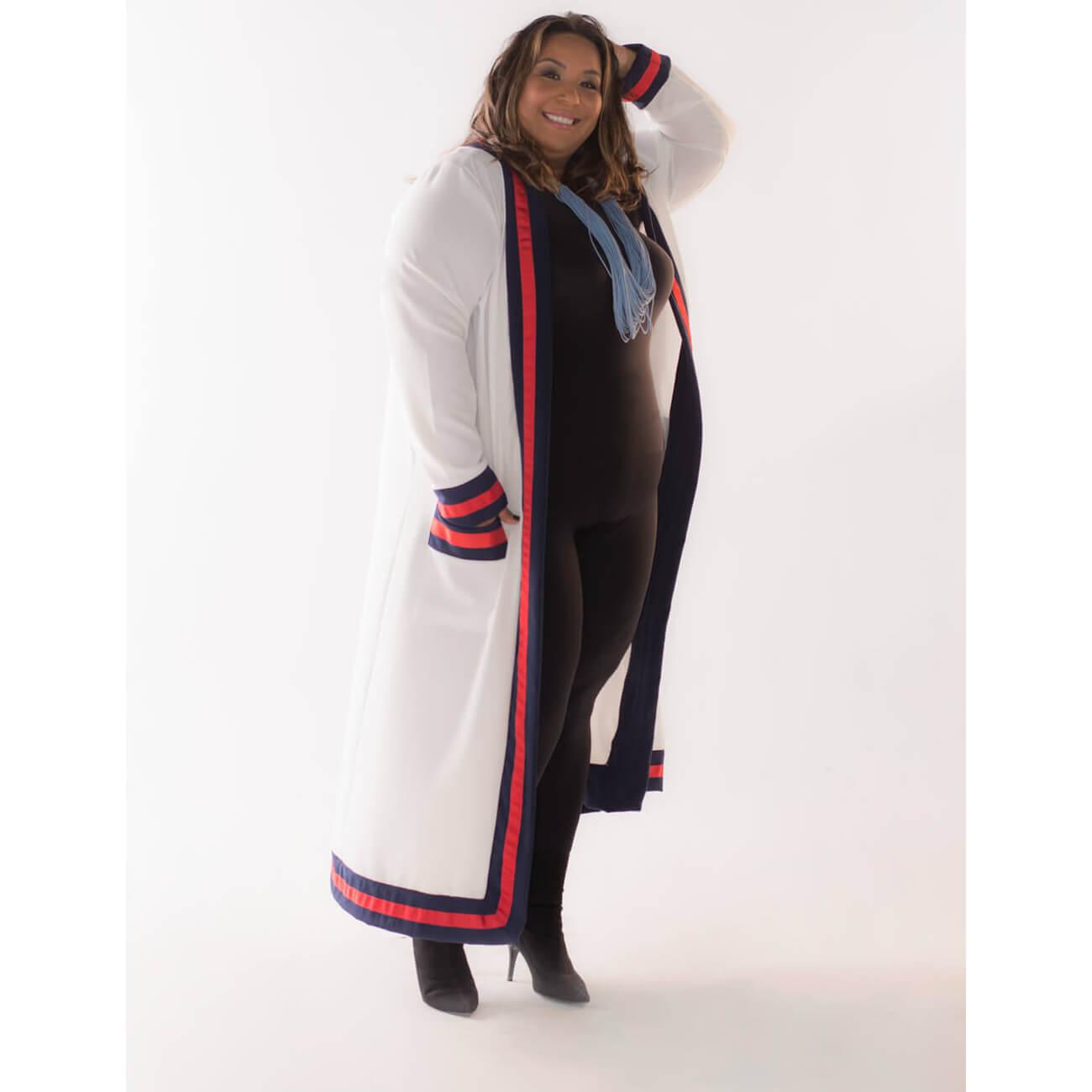 Kimono Plus Size Crepe Liso Dani Rudz