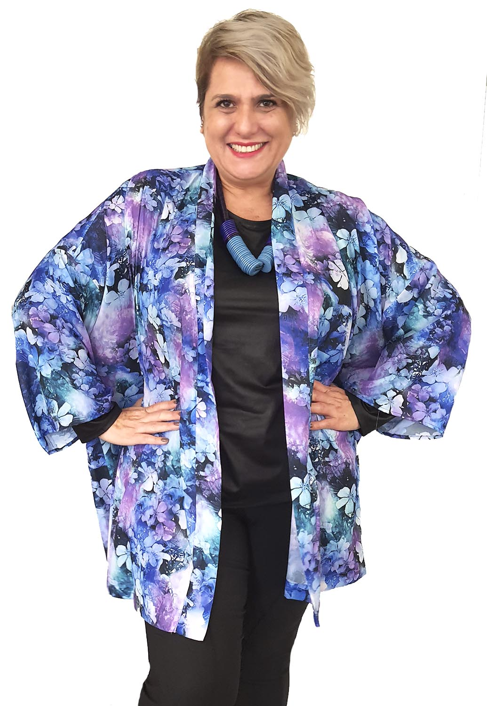 Kimono Plus Size Estampado