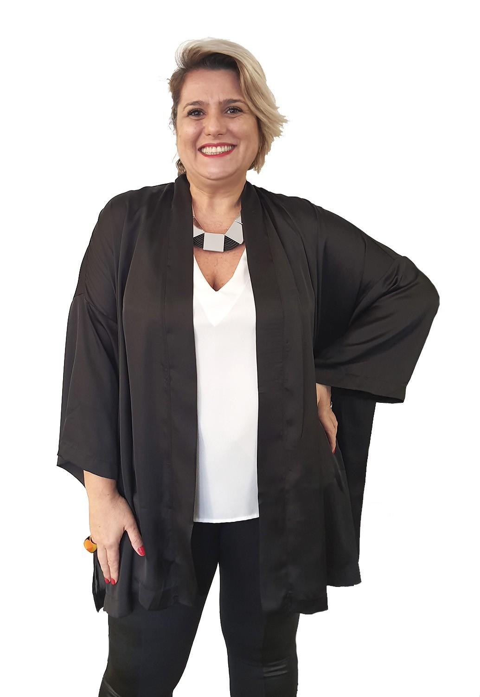 Kimono Plus Size Liso