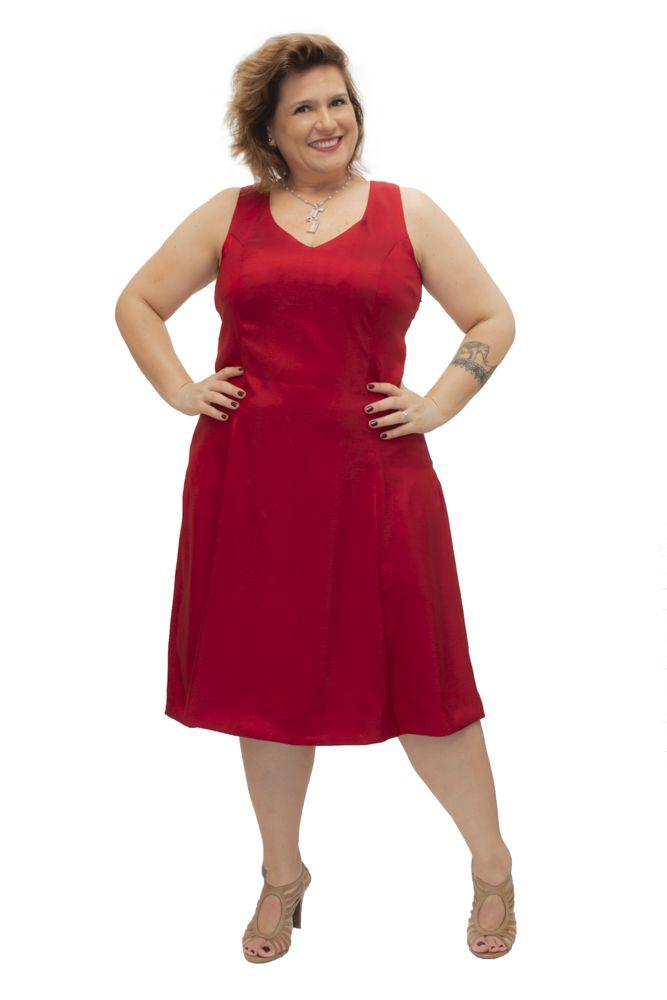 Vestido Chantung Plus Size