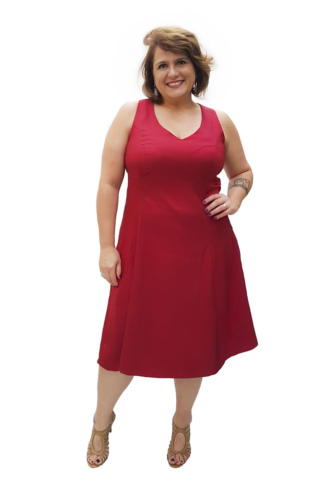 Vestido Chantung Plus Size