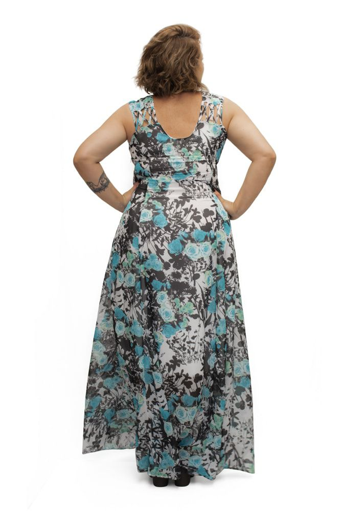 Vestido Longo Chiffon Plus Size