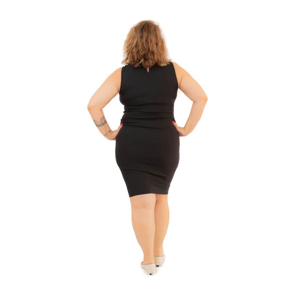 Vestido Curto Plus Size Midi Madames Curves