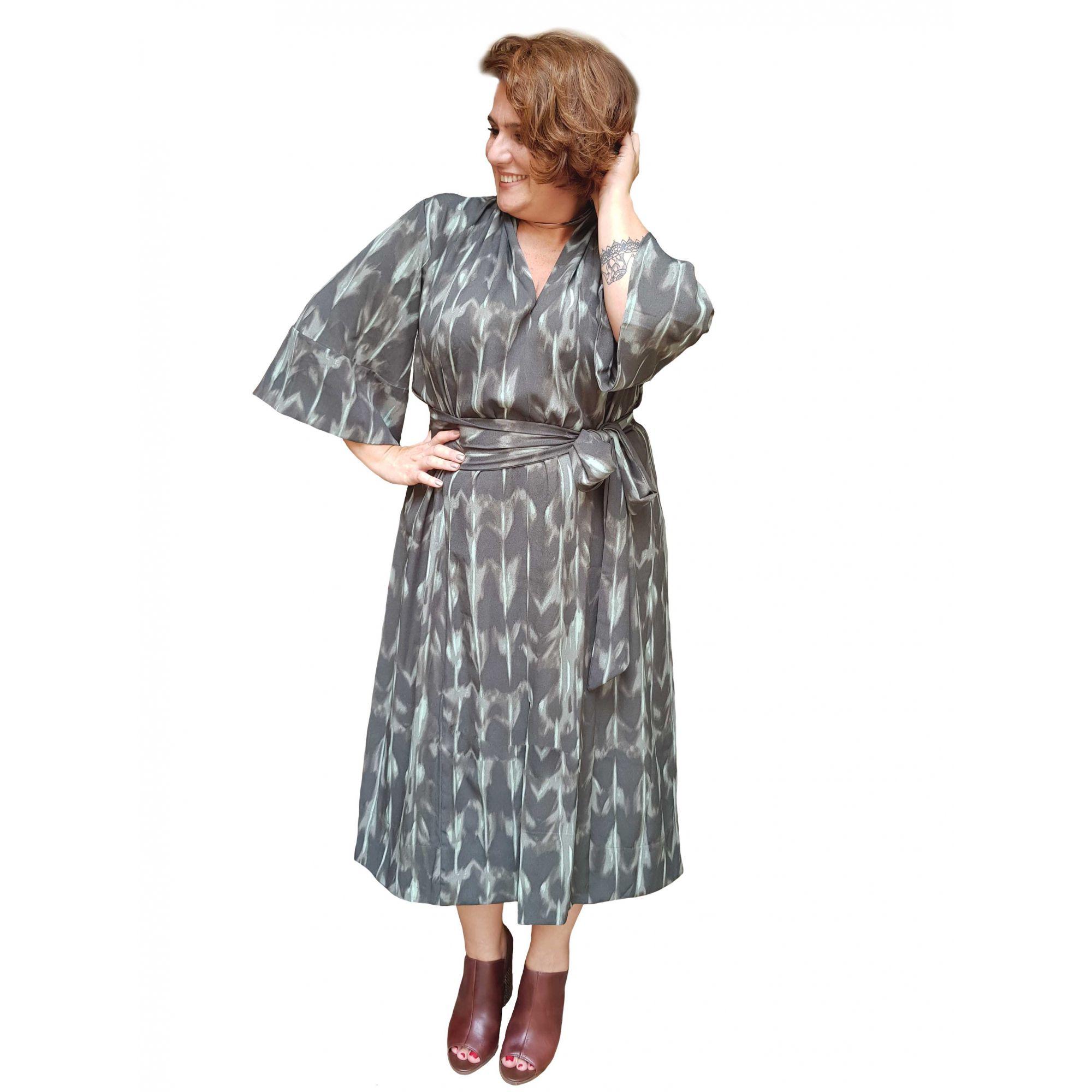 Vestido Kimono Plus Size