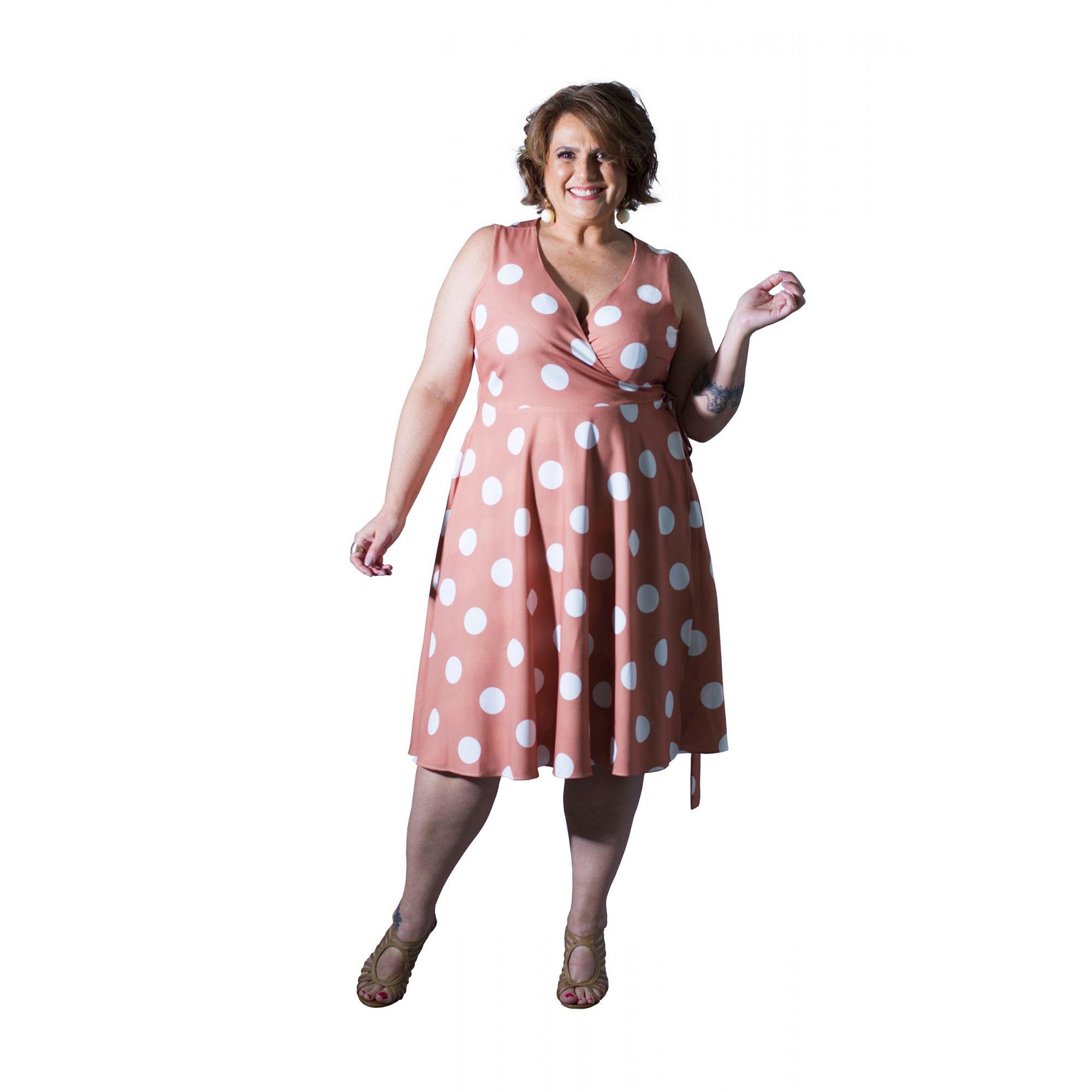 Vestido Plus Size Cachecouer Bolas