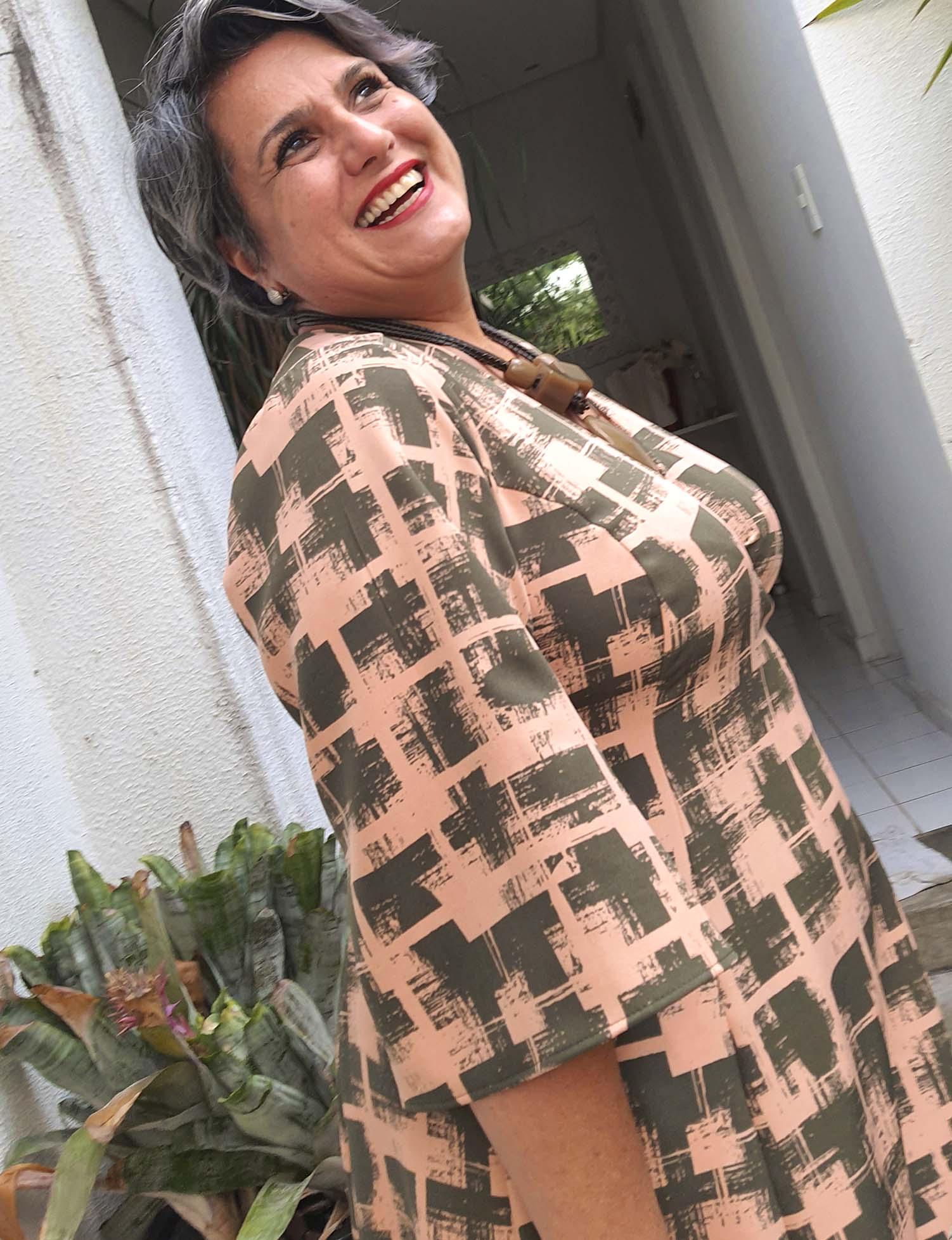 Vestido Plus Size Cachecouer Estampado