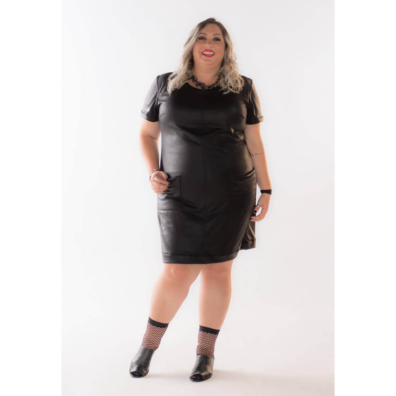 Vestido Plus Size Curto Dupla Face Estilo Curvas