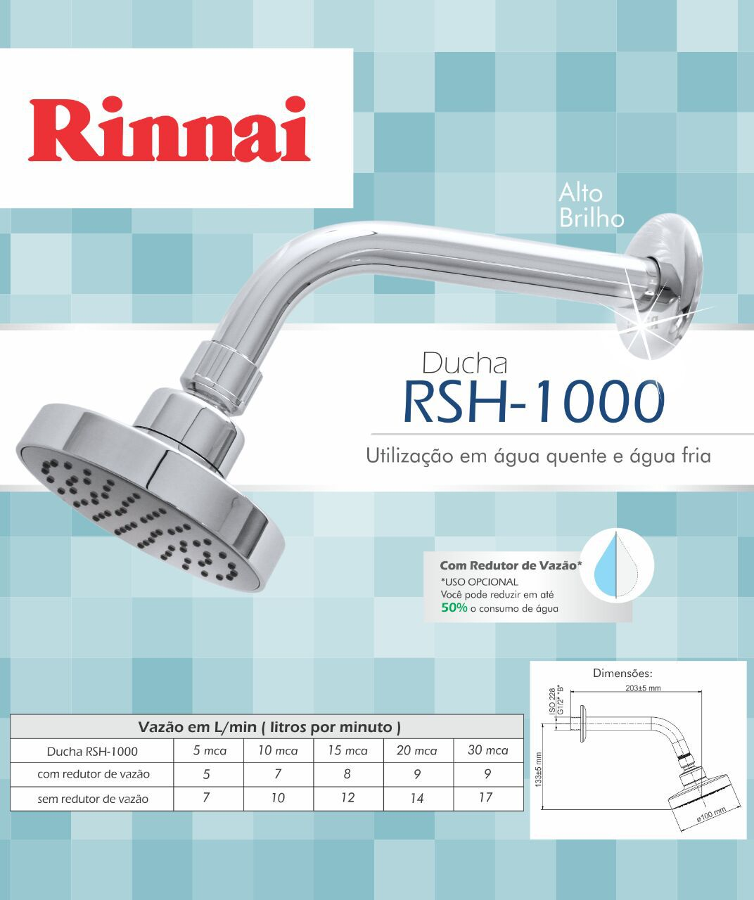 Ducha Rinnai RSH-1000