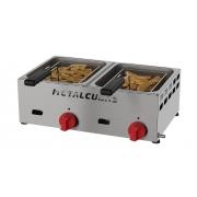 Fritadeira a Gás Baixa Pressão 2 Cubas FRCG 6 Inox Metalcubas