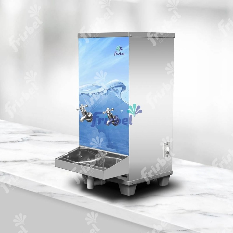 Bebedouro Industrial de Bancada 1 Gelada 1 Natural Inox 25 Litros 220v Frisbel