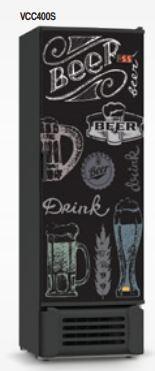Cervejeira 400 Litros Porta Adesivada VCC400S 110v Refrimate