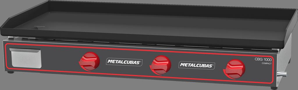 Chapa Bifeteira a Gás Compacta 100x45 CBG 1000 C Metalcubas