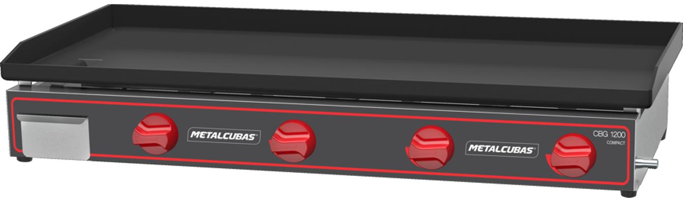 Chapa Bifeteira a Gás Compacta 120x45 CBG 1200 C Metalcubas