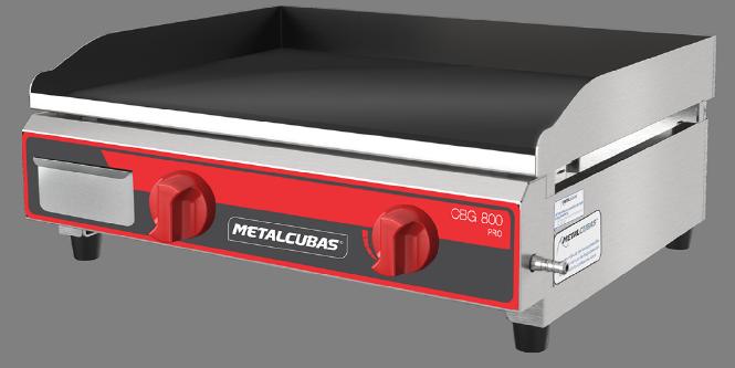 Chapa Bifeteira a Gás Profissional 80x52 CBG 800 Metalcubas