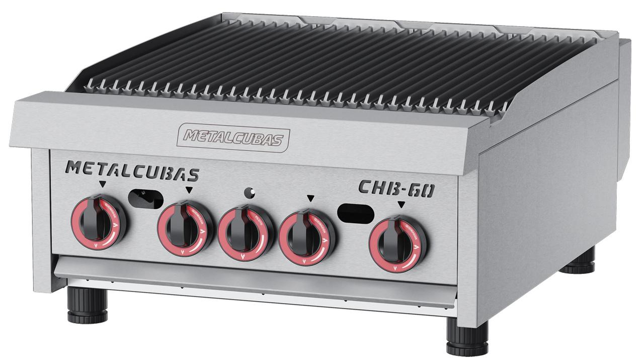 Char Broiler à Gás 60 cm CHB 60 Inox Metalcubas