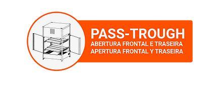Estufa Vapor Reta Pass Through 464 6 Bandejas 110v Titã