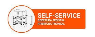 Estufa Vapor Reta Self Service 464 6 Bandejas 220v Titã
