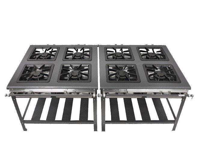 Fogão Industrial 8 Bocas duplas Extra Metal Brey