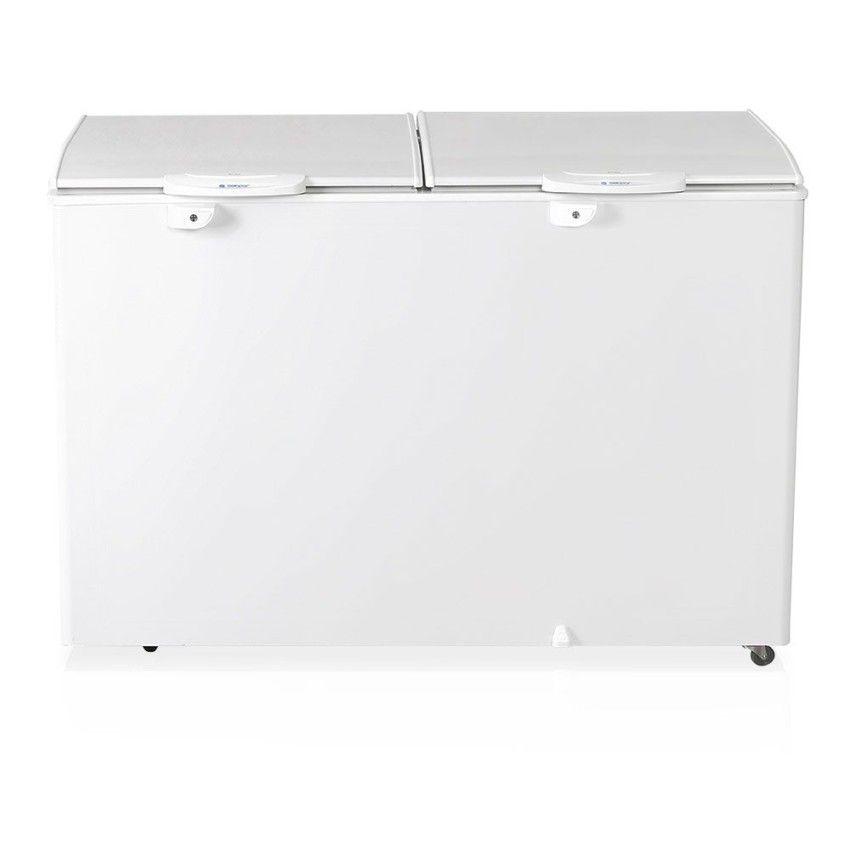 Freezer Refrigerador Horizontal GHBS 410 BR 2 Portas Sólidas 411 Litros 220v Gelopar