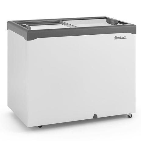 Freezer Refrigerador Horizontal GHDE 310-H 2 Portas de Vidro 307 Litros 220v Gelopar