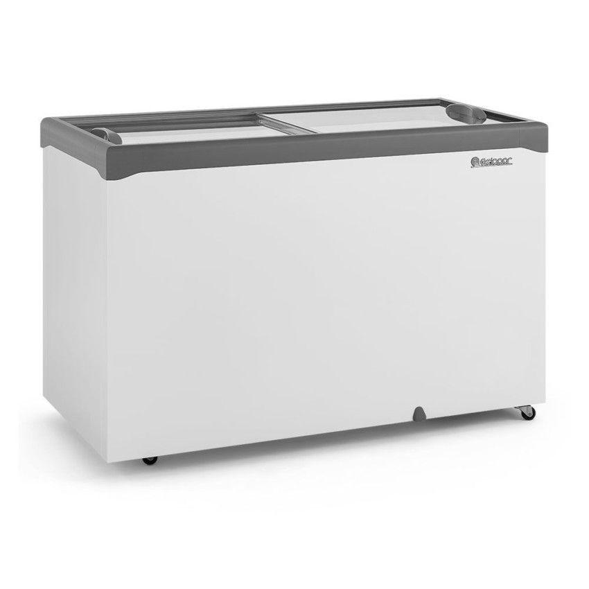 Freezer Refrigerador Horizontal GHDE 410-H CZ 2 Portas de Vidro 413 Litros 220v Gelopar