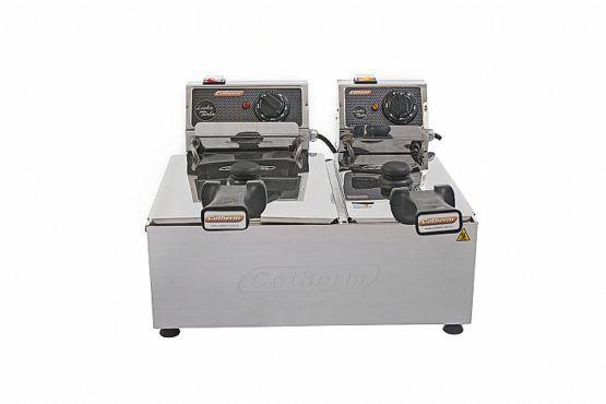 Fritadeira Profissional Turbo 2 Cubas 3L e 5L 220v Cotherm