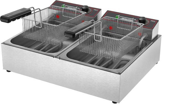 Fritadeira Elétrica 2 Cubas Óleo 06 litros FRCE 06 220v Metalcubas