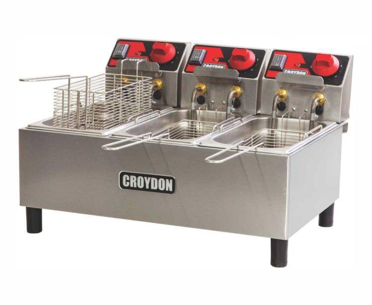 Fritadeira Elétrica 3 Cubas 3 Litros FC3A 220v Croydon